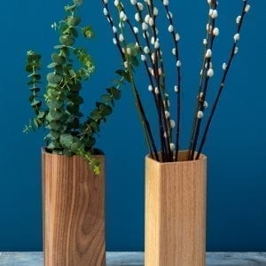 BLAD Vase - Egetræ