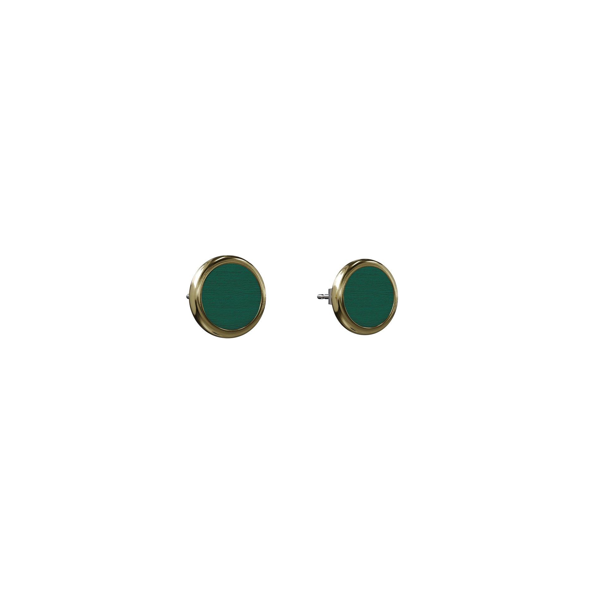 Øreringe Suffiks – Grøn/Guld