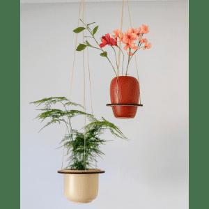 Leerbaek - Birk small - birk large - planteholder - planteophaeng - kontor - stue - dansk design