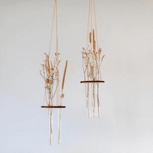 Lerbaek - flora small - stiklinger - planteophaeng - planteholder - groenne planter - dansk design - stue - kontor - entre - modernhouse