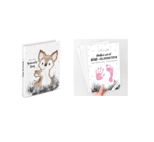 eksempel pigekit barnets bog babyaftryk