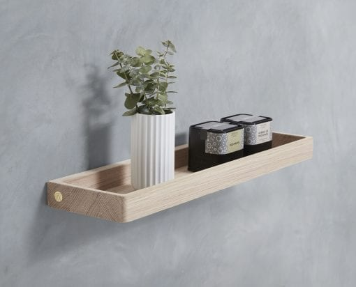hylde - shelf - oak - andersen furniture - dansk design - koekken - bathroom