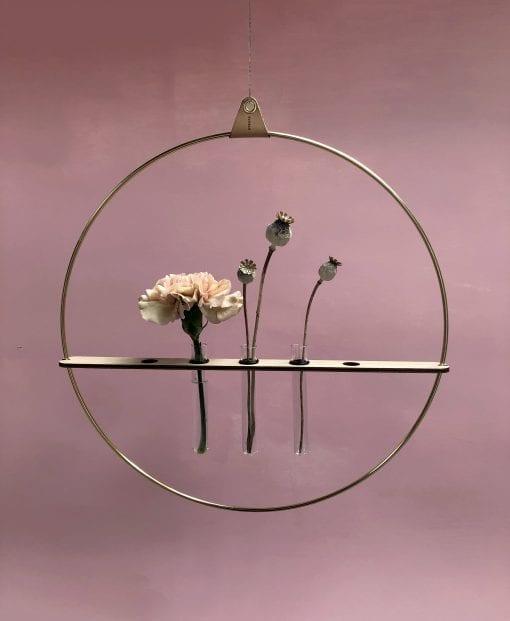 strups - brass - floating vases - strups rings - danish design