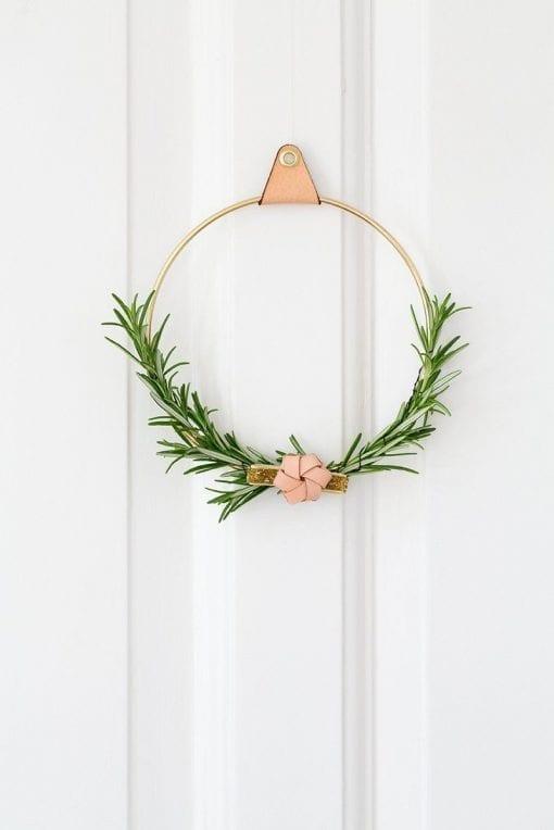 strups brass ring - groenne planter - dekoration - dansk design