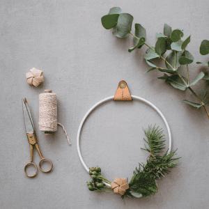 strups leather natur - dansk design - strups laeder blomst