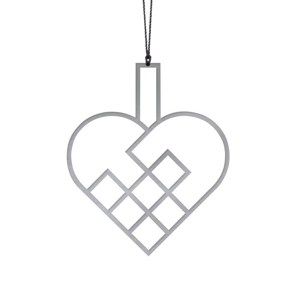 Felius Design – Julehjerter, Stål (streg)- 2 stk
