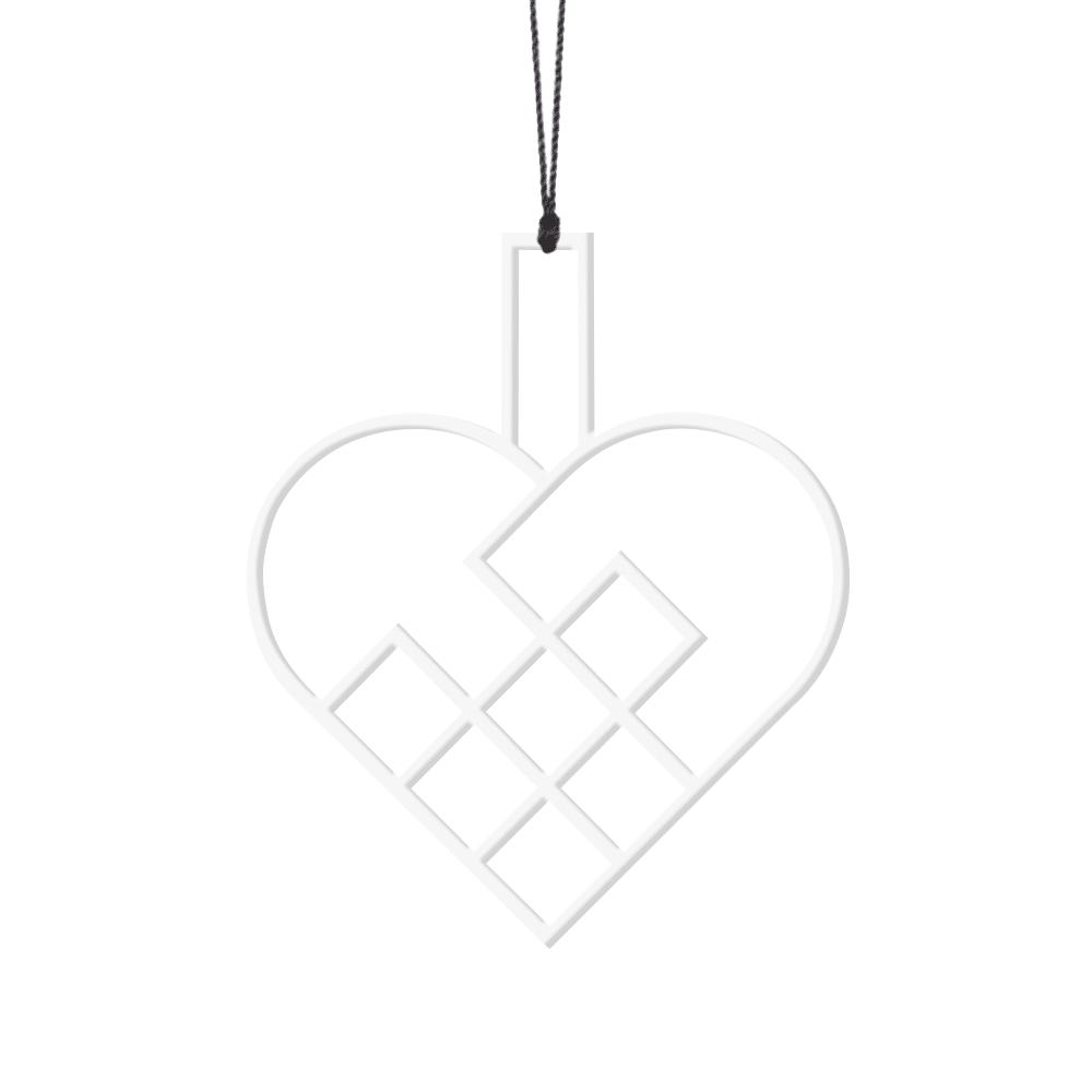 Felius Design – Julehjerter, Hvid – 2 stk