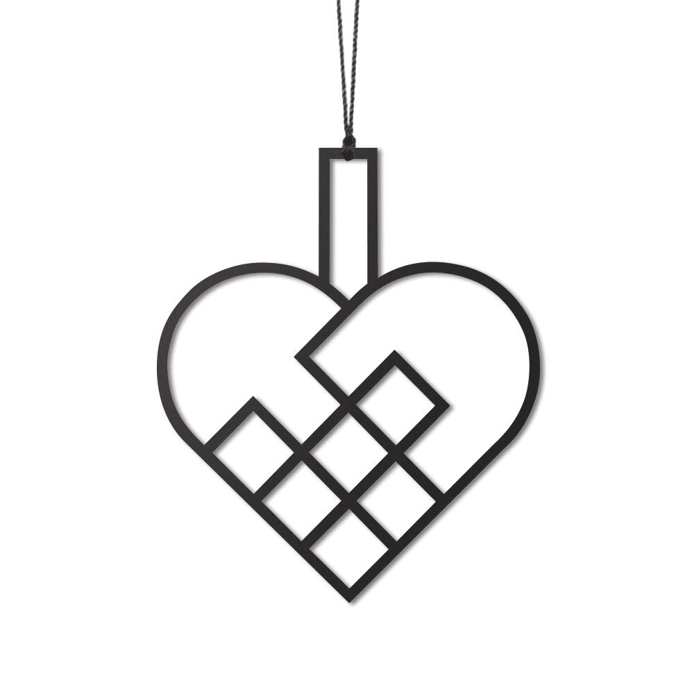 Felius Design – Julehjerter, Sort – 2 stk