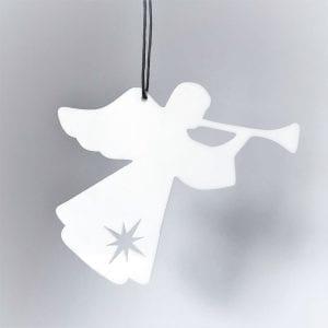 engel-trompet-julepynt-denmark-hvid
