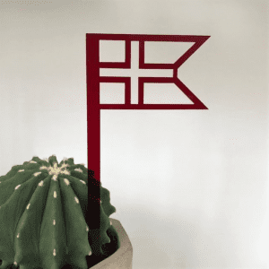 Flag_roed_Ryborg Urban Design_Flagstand_dansk_foedselsdag