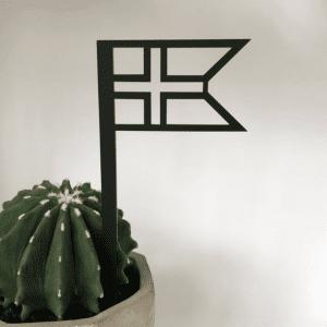 Flag_sort_Ryborg urban Design_flagstang_foedselsdag