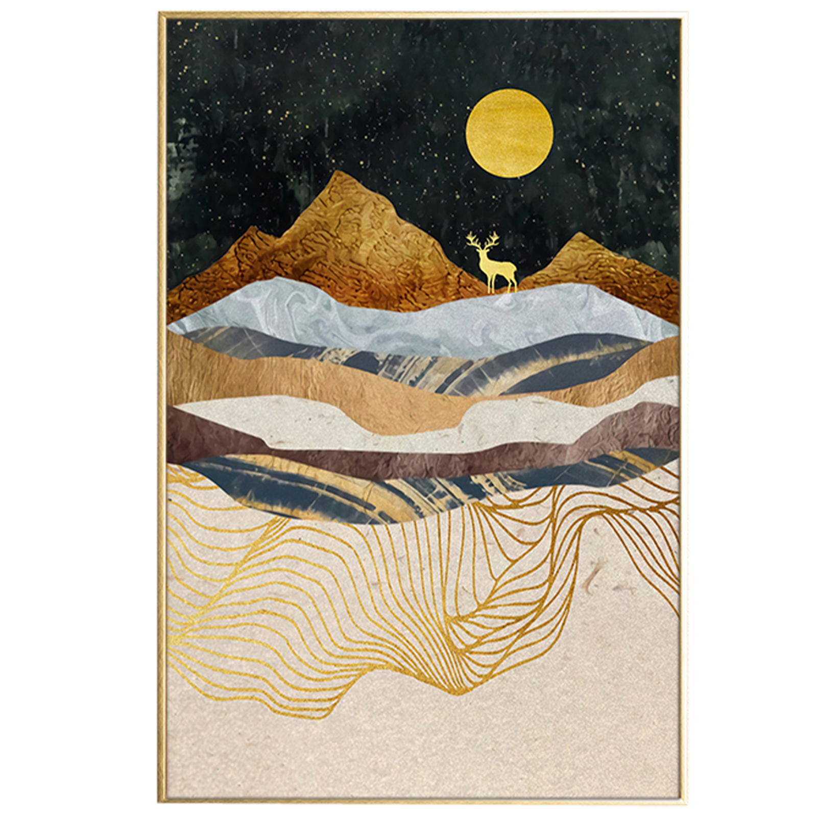 House of Sander – Beige Landscape, illustration m. ramme