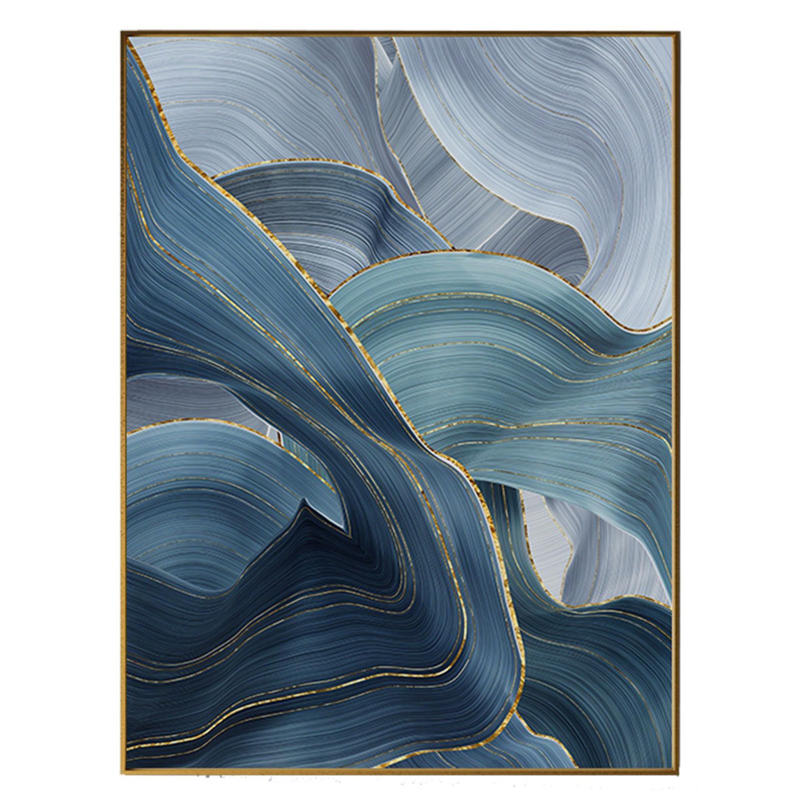 Blue Art, illustration m. ramme