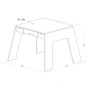 table a_collect furniture_bornebord_tegning
