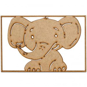 Familien kl - boernevaerelse - llustrationer - elefant - billedevaeg - modernhousedk