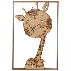 Familien kl - giraf - boernevaerelse - boernebilleder - indretning boernevaerelse - llustrationer - dansk design - modernhousedk