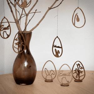 Familien kl - paaskepynt - paaske - paaskekylling - paaskehare - dansk design- paaskeindretning- modernhousedk