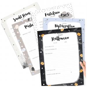 Hyggelige hoejtider - ekstra sider til barnets bog A4 - prik og streg