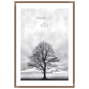 Incado - Slim walnut - nordic line - plakatramme - ramme - 50 x 70 cm - modernhousedk