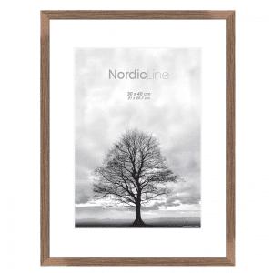 Incado - rammer - plakatrammer - 30 x 40 cm - slim walnut safety - nordic line - modernhousedk
