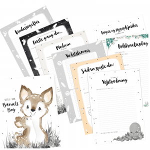 Praematur Tillaegspakke til Barnets Bog - Prik og Streg - Ekstra sider til barnets bog A4 - ModernHousedk
