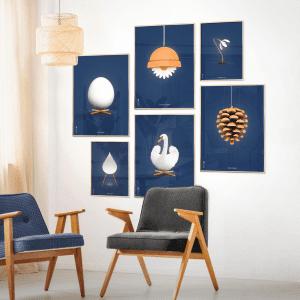 Brainchild - indretning stue - plakater - danske klassiskere - Finn Juhl - Arne Jacobsen