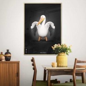 Brainchild - pelikan - plakat - plakater - plakat - danske klassiskere - dansk design - gaveide - stue - modernhousedk