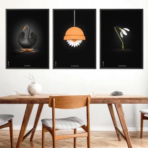Brainchild - sort svanen - flowerpot - vintergaek - plakater