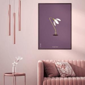 Brainchild - vintergaek - lilla baggrund - plakat - plakater - gaveide - indretning stue - danske klassiskere