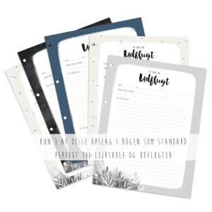 Prik og Streg - Barnets bog - Skoleminder - ekstra sider til bogen skoleminder - skolestart - modernhousedk