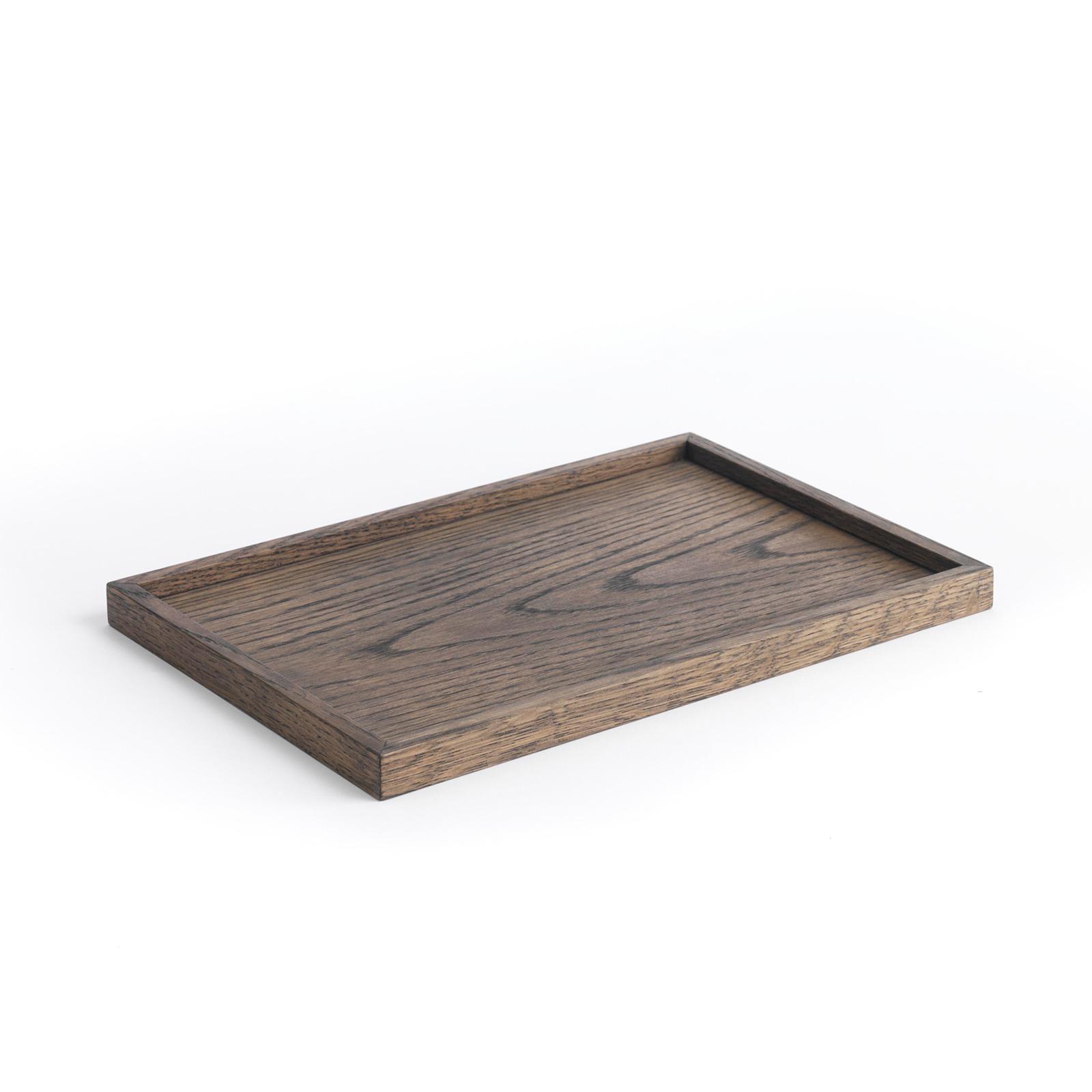 Square Tray – Large, Mørk Egetræ