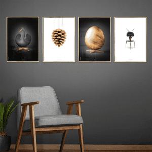 Brainchild plakater - billige plakater - rabat brainchild plakater - klassisk design - svanen - aegget - koglen - dansk design