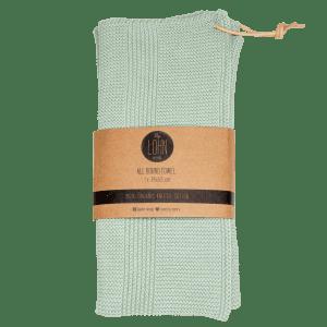 By lohn - light mint - groen - haandklaede - stikkede haandklaeder - dansk design - oekologi - modernhousedk