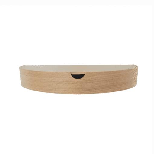 Hide away hylde natur - egetrae - hide away med laminattop - dansk design - nordic function - entre - sovevaerelse