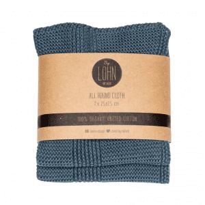 by lohn - strikkede karklude - klude - oekologi - dark grey