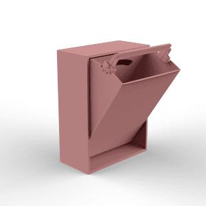 Recollector - baeredygtig design - rose - lyseroed - sorteringssystem - entre - koekken - depot