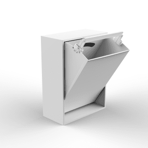 Recollector - affaldssortering - dansk design - hvid affaldsspand - sortering af affald i hjemmet