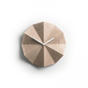 lawa design - lawadesign - delta cloak oak white - lawa delta clock - vaegure - ure - vaegure uden tal