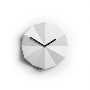 lawadesign - lawa design - delta clock white black - lawa delta clock - vaegure - ur til vaeg - desginer vaegure