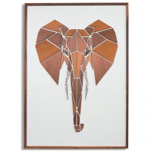 Replant art - vaegdekorationer - vaegkunst - illustrationer - elefant - dansk design - modernhousedk