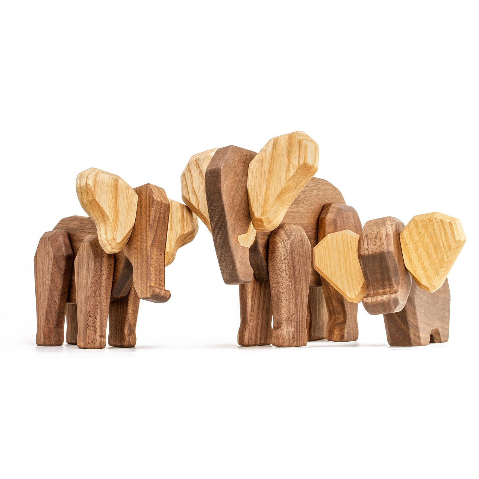 Elefant familie - Fablewood - dansk design - traefigurer - gaveide