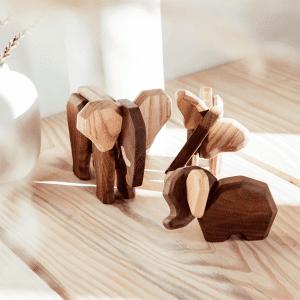 Elefantfamilie - far elefant - mor elefant - lille elefant - fablewood