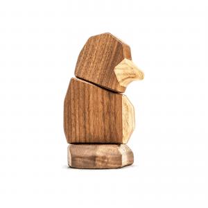 FableWood - pingvin unge - nature - dansk design - figurer - traefigur
