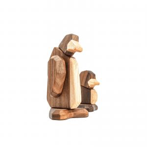 Pingvinen og lille pingvin-unge - dansk design - daabsgave