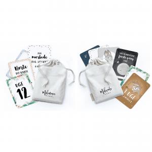 2 x milestone kort - graviditetskort - startpakke - milestenskort - tilbud