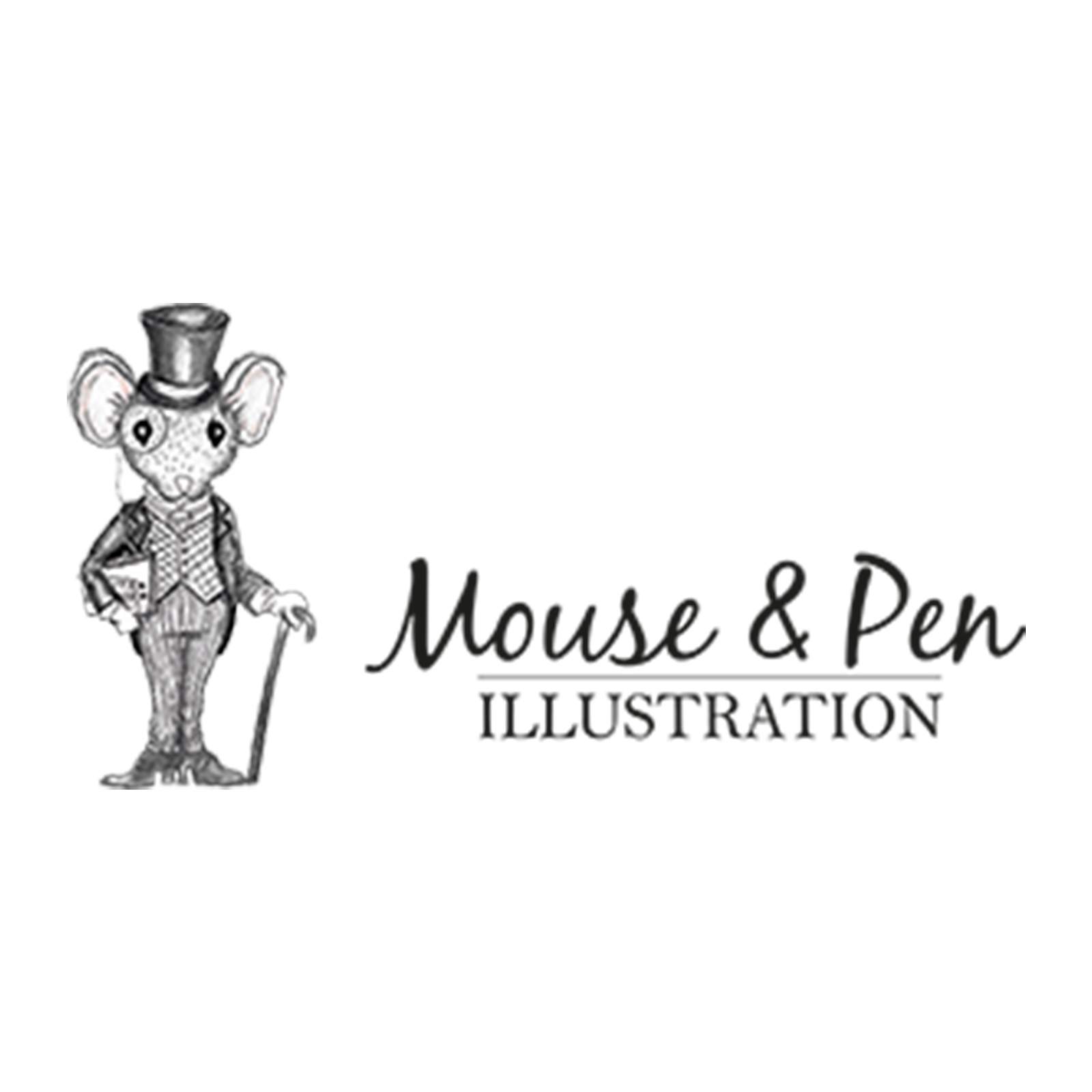 Mouse and pen logo