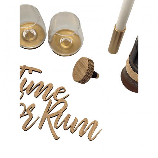 Time for rum - hjemmebaren - wurtz design - indretning - dansk design - drink - traeskilte - modernhousedk