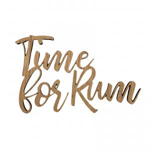 Time for rum - wurtz design - barudstyr - hjemmebaren - stue - traeskilte - skilte