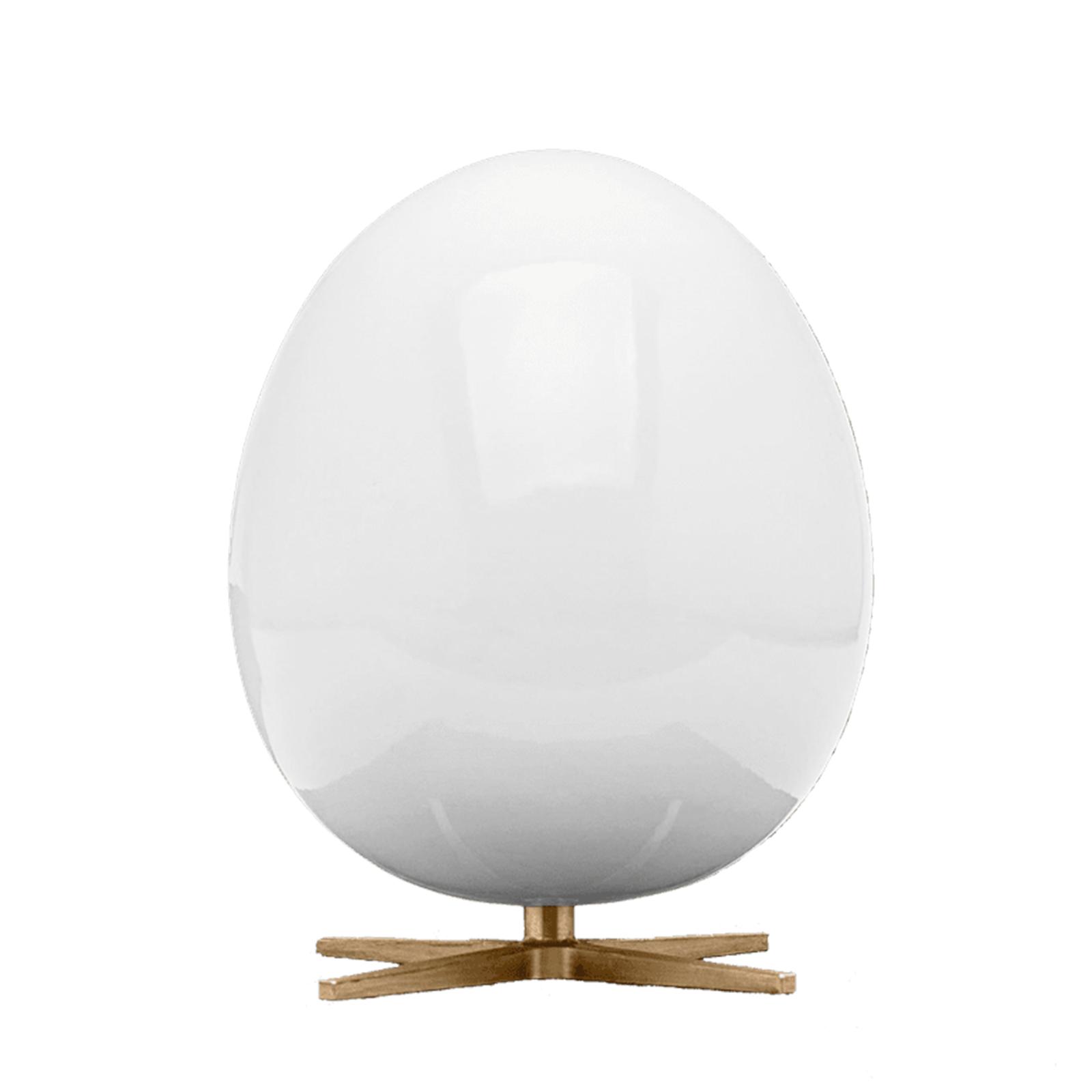 Ægget Figuren – Hvid/Messing fod