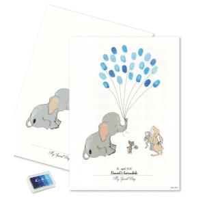 baby fingeraftryk dreng - daabspynt - barnedaab - mouse and pen